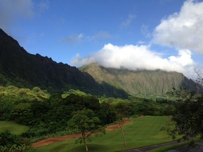 Koolau golf course, a short drive to Tropical Sands Suite. Amazing!
