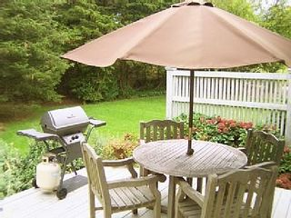 Orleans house photo - The deck is where you'll find the grill and outdoor table