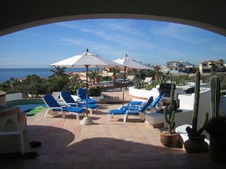 Terrace/Pool/Jacuzzi view. - Cabo San Lucas villa vacation rental photo