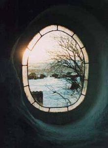 Oval window overlooking the moor...