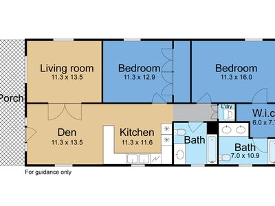 Convenient floor plan. Living room futon sleeps two.