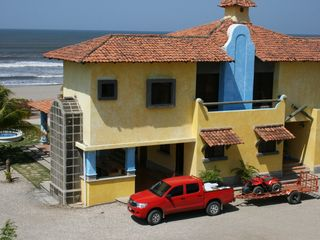 Pochomil house photo - Spectacular beachfront home with large parking, two stories
