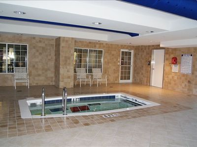 Indoor Lap Pool and Hot Tub (not shown)