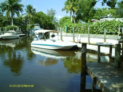 20' Hurricane Deck Boat provided for your use.