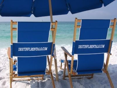 Two Chairs & Umbrella Sat up for You on Maravilla's Private Beach In season