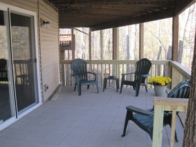 patio off lower rec room