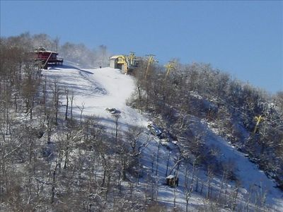 View of adjacent Sugar Mountain ski slope