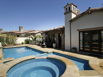 Goleta house rental - Pool has waterfall features