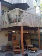 Manitou Springs townhome photo - Great deck, and double patio on 2 levels, hammock and fire pit in the summer!