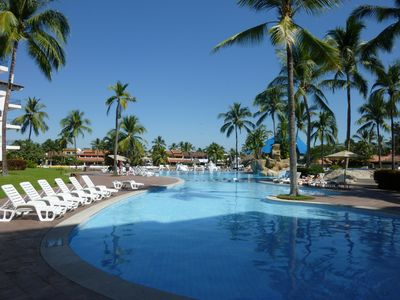 Beautiful pool for your enjoyment at Vamar Vallarta - just across the street