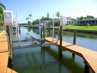 Cape Coral house photo - Bring your own boat and dock it on the 10,000 lb boat lift