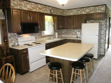 Kitchen with island.