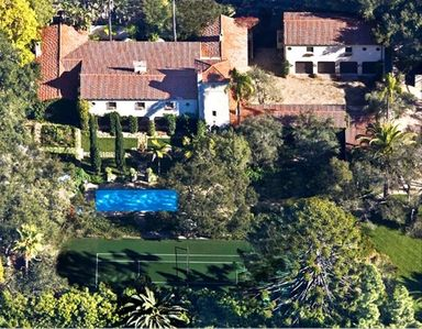 Historical & Romantic Gated Montecito Estate with Pool, Spa and Tennis Court
