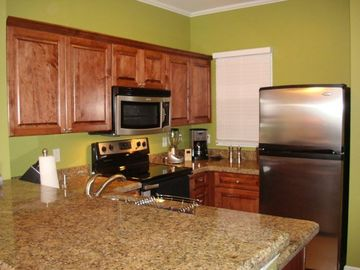 Fully equipped kitchen with all stainless steel appliances