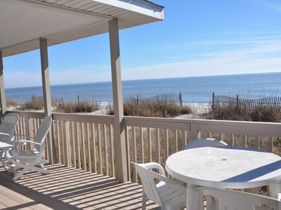 Partially Covered Deck for Relaxing out of the beach or enjoying Dinner