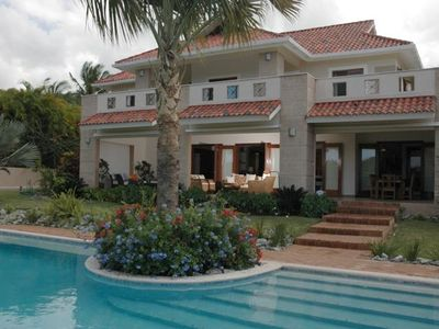 Cabarete villa rental - Pool and balcony view