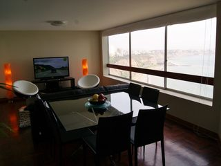Miraflores condo photo - Ocean Front Dining for 6, Living Room and 50'HD TV