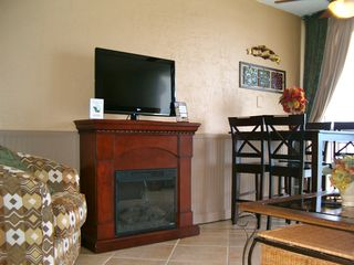"Meridian Plaza condo photo - New accent chair, New 32"" LCD TV, electric fireplace, ocean front di..."