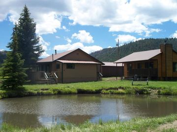 Greer cabin rental - Main Street Cabins and the Pond.
