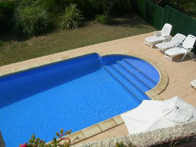 L'Estartit house rental - Pool from upstairs terrace