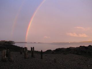 Eastport house photo - Double rainbow at the beach