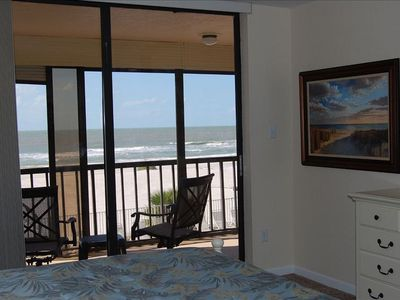 View of ocean from master bedroom.