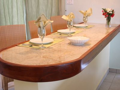 Anguilla villa rental - Dining area offer views of the Caribbean