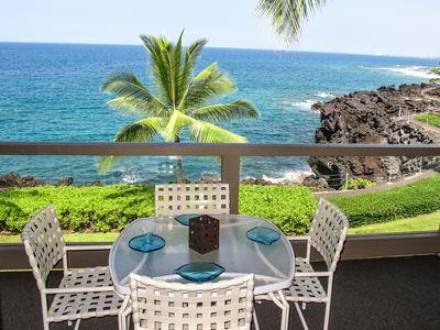 The lanai - oceanfront