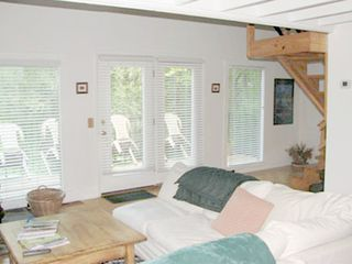 Elkton cabin photo - Sunny great room with large windows.