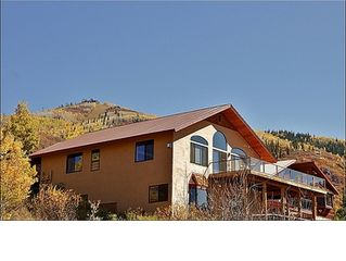 Steamboat Springs house photo - Exterior View of the Home with the Slopes & Gondola above.