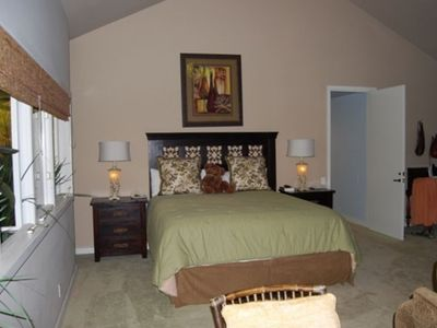 This is the bedroom part of the bonus room which also has a large sitting area.