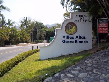 Puerto Vallarta villa rental - Entrance to Villas Altas Garza Blanca.