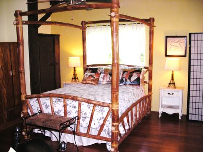 Beautiful bamboo queen bed!