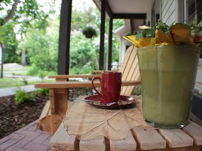 Relax on the patio and enjoy a lazy summer day with a cup of tea-