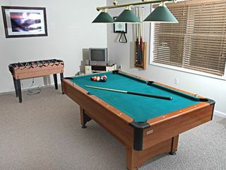 Game Room with Pool table/foosball/playstation2 with guitarhero,etc - Towamensing Trails chalet vacation rental photo