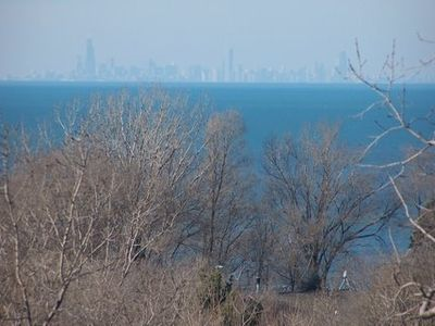 View across Lake Michigan from Sunset Trail House