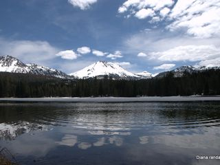 Mount Lassen house photo - Mt.Lassen reflected in Mazanita Lake, snow shoeing & cross country sking. Winter