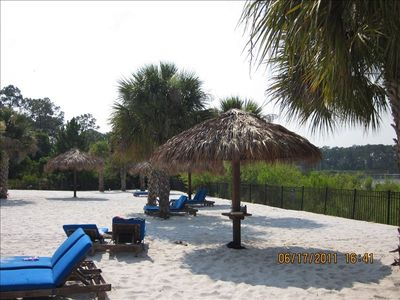 Soak up some rays at our beach!!