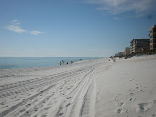 Okaloosa Island condo photo - Beautiful sand, cool for walking on the beach! Like powdered sugar..