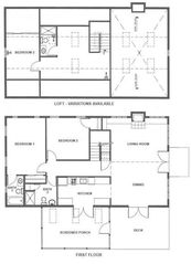 New Buffalo cottage photo - Approx Floor Plan of Cottage