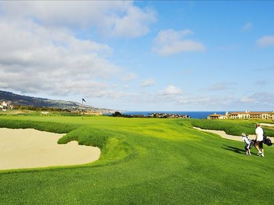 Oceanfront Duplex Casitas are perched on the bluff with both ocean & golf views