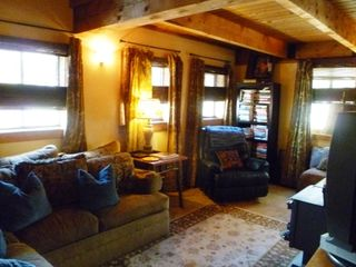 Crested Butte cabin photo - Relax in Leather Lazy Boy after a big day of biking or skiing.