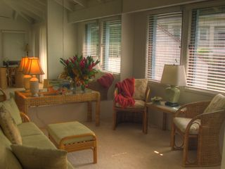 Poipu condo photo - The family room has an ocean view from the windows.