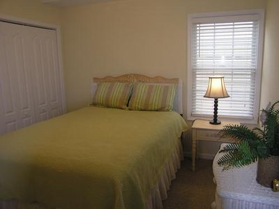 Comfortable Queen sized bed and new flat screen TV/DVD combo in the 3rd bedroom.