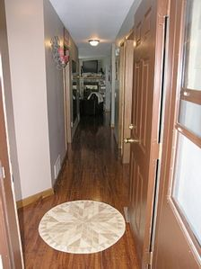 Columbia Falls condo rental - Main Entry with ceramic medallian insert