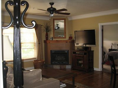 Large Family Room-Big Screen & Fireplace, DVD and a REALLY comfortable couch