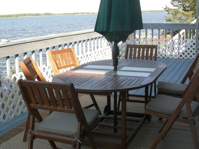 Teak dining on sun deck