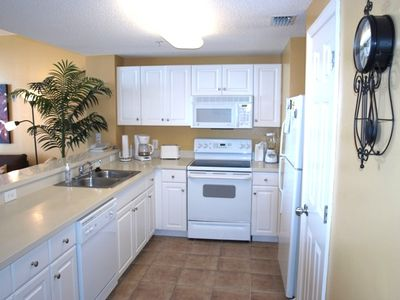Large kitchen overlooks Lv Rm & Gulf front view! Fully stocked and ready!