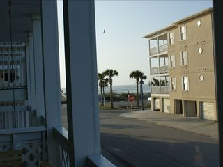 Tybee Island condo photo - View from the porch only 101 steps to 17th Street