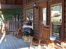 Enjoy sitting on the front porch with your morning Coffee! - Pigeon Forge cabin vacation rental photo